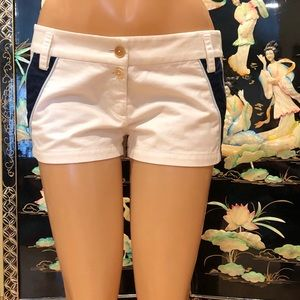 Juicy couture white/blue  tennis shorts 6 pin up s